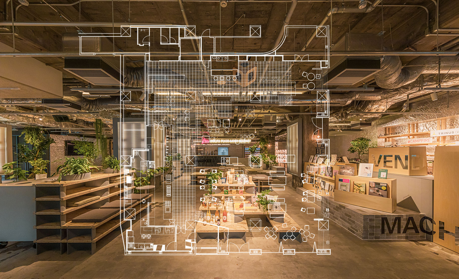 有楽町 micro FOOD & IDEA MARKETのSPACE MAP